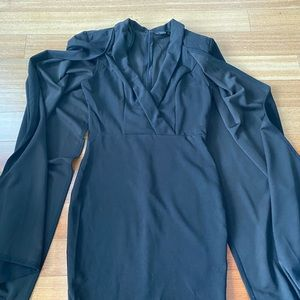 Black cape dress